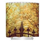 Autumn Gates Shower Curtain