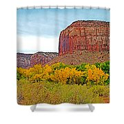 Autumn Gold On Highway 211 Going Into Needles District Of Canyonlands National Park-utah   Shower Curtain