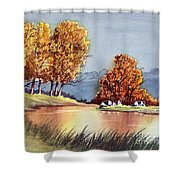 Autumn Golds Shower Curtain
