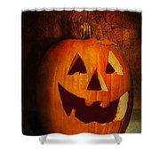 Autumn - Halloween - Jack-o-lantern  Shower Curtain by Mike Savad