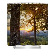 Autumn Highlights Shower Curtain by Debra and Dave Vanderlaan