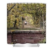 Autumn Hike On The C And O Canal Towpath At Seneca Creek Shower Curtain