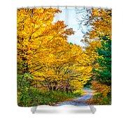 Autumn Hike - Paint Shower Curtain