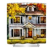 Autumn - House - Cottage  Shower Curtain by Mike Savad
