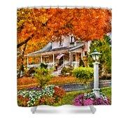 Autumn - House - The Beauty Of Autumn Shower Curtain