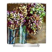 Autumn Hydrangeas Photoart Shower Curtain