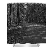 Autumn In Black And White Shower Curtain