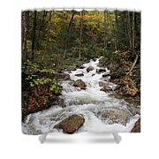 Franconia Notch In Autumn  Shower Curtain