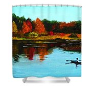 Autumn In Michigan Shower Curtain