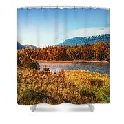 Autumn In Montana Shower Curtain