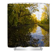 Autumn In Morrisville Pa Along The Delaware Canal Shower Curtain