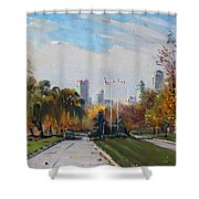 Autumn In Niagara Falls State Park Shower Curtain