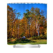 Autumn In North River New York Shower Curtain