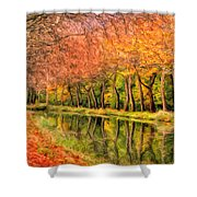 Autumn In Provence Shower Curtain