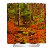 Autumn In Sproul State Forest Shower Curtain