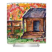 Autumn In The Backwoods Shower Curtain