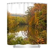 Autumn In The Butternut Valley-five Shower Curtain