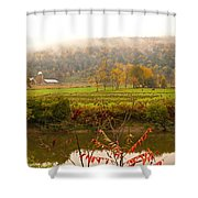 Autumn In The Butternut Valley-six Shower Curtain