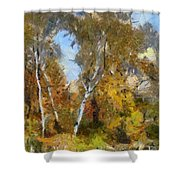 Autumn In The Marshes Shower Curtain