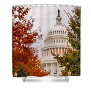 Autumn In The Us Capitol Shower Curtain