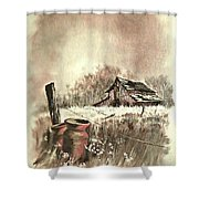 Autumn In View At Mac Gregors Barn Shower Curtain