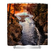 Autumn In West Paris Shower Curtain by Bob Orsillo