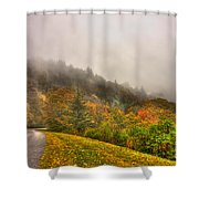 Autumn Just Around The Bend Blue Ridge Parkway In Nc Shower Curtain