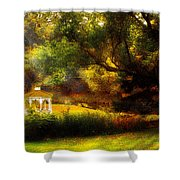 Autumn - Landscape - Past And Present Shower Curtain