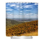Autumn Layers Shower Curtain