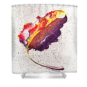 Autumn Leaf On Fire Shower Curtain