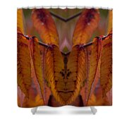 Autumn Leaves 03 Mirror Image Shower Curtain
