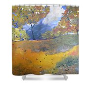 Autumn Leaves Panel1 Of 2 Panels Shower Curtain