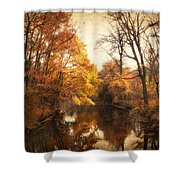 Autumn Lingers Shower Curtain