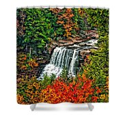 Autumn Magic Paint Shower Curtain
