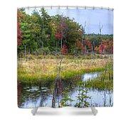 Autumn Marsh Shower Curtain