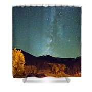 Autumn Milky Way Shower Curtain