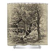 Autumn Mill 2 Antique Shower Curtain