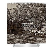 Autumn Mill Sepia Shower Curtain