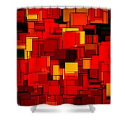 Autumn Modern Abstract Xv Shower Curtain