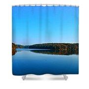 Autumn Moon At Argyle Lake Shower Curtain