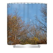 Autumn Moonrise Shower Curtain