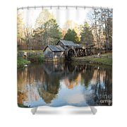 Autumn Morning At Mabry Mill Shower Curtain
