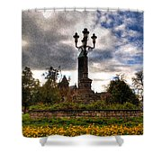 Autumn Morning At Symphony Circle V2 Shower Curtain