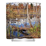 Autumn Morning At The Marsh Shower Curtain