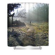 Autumn Morning  Shower Curtain by David Stribbling