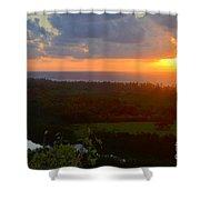 Autumn Morning Over Wailua Shower Curtain