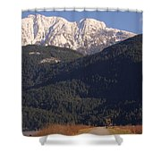 Autumn Snowcapped Mountain - Golden Ears - British Columbia Shower Curtain