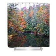 Autumn Mountain Stream Shower Curtain