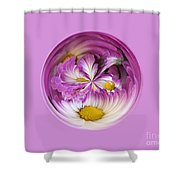 Autumn Mum Orb Abstract Shower Curtain