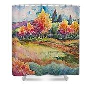 Autumn Near Taos Shower Curtain